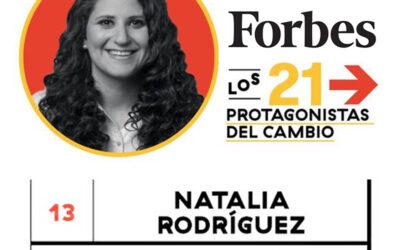 Natalia Rodríguez premiada por Forbes